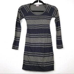 Splendid Girls Striped Layered T-Shirt Dress Sz 10